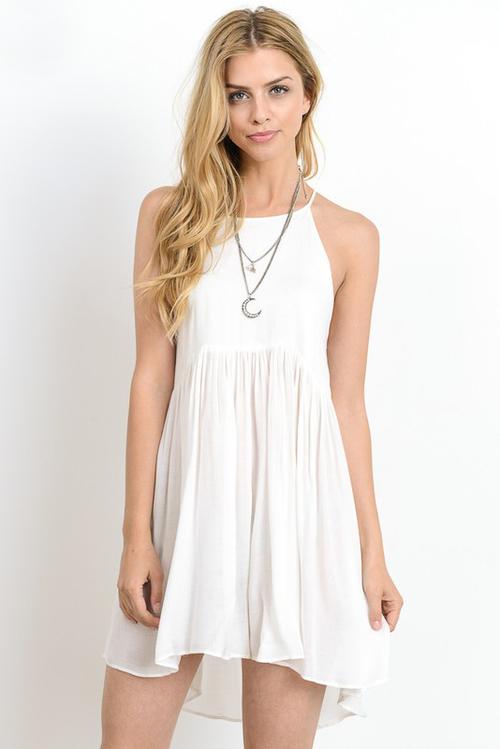 Keyhole Back Short Dress