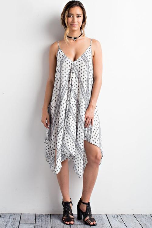 Paisley Print Handkerchief Dress