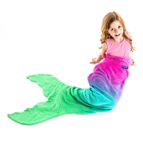 Kids Ombre Mermaid Tail Blanket