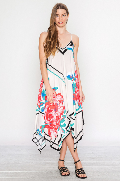 Piece Print Dress