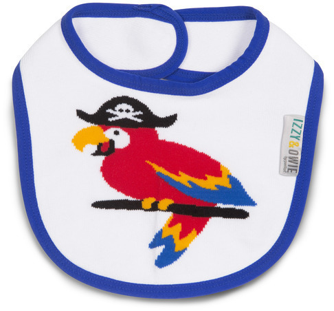 Blue Pirate Parrot Baby Bib