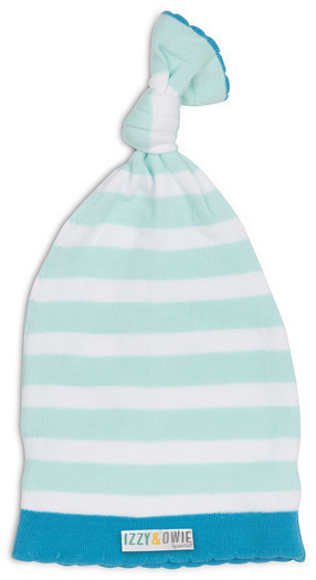 Light Blue Stripe Baby Hat