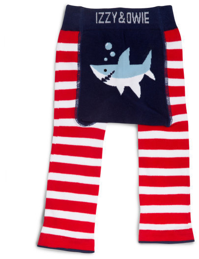 Red and Navy Shark Leggings