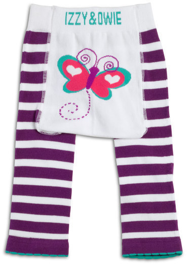 Purple & White Butterfly Leggings