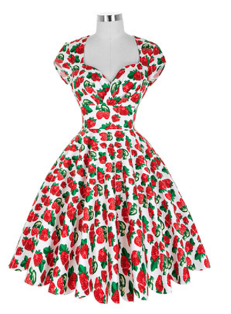 Sienna Dress in Strawberry