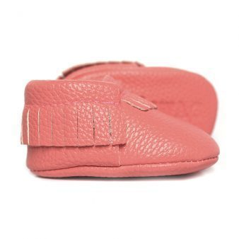 Coral Baby Moccasins