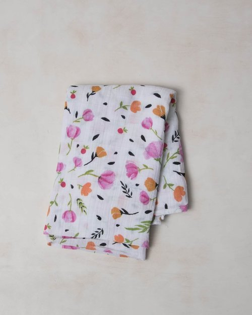 Berry & Bloom Muslin Swaddle Blanket