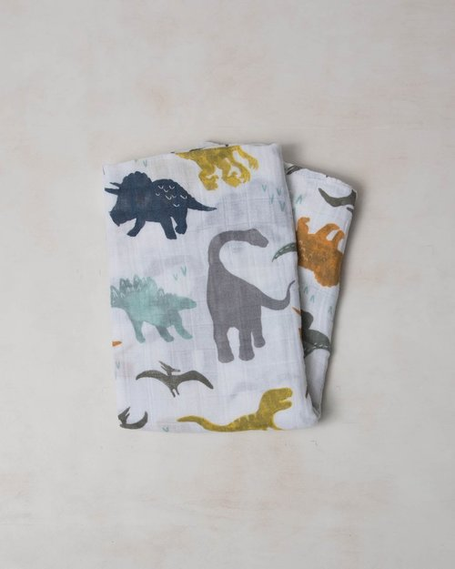 LIttle Dino Muslin Swaddle Blanket