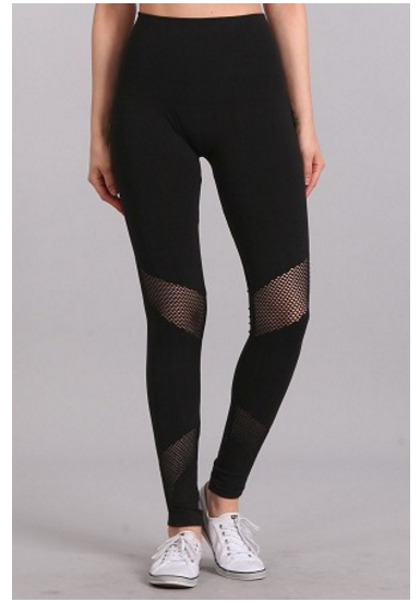 Mesh High Waisted Black Leggings
