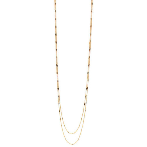 18K Plated Double Strand Gold Necklace