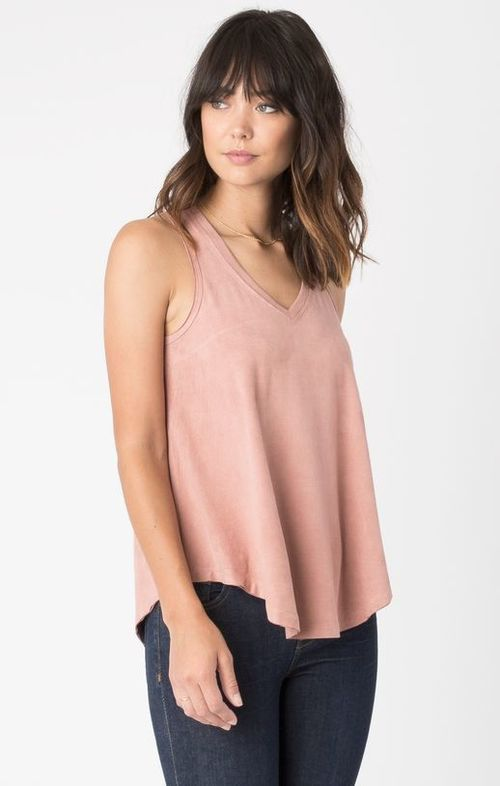 Suede Swing Tank Blossom Rose