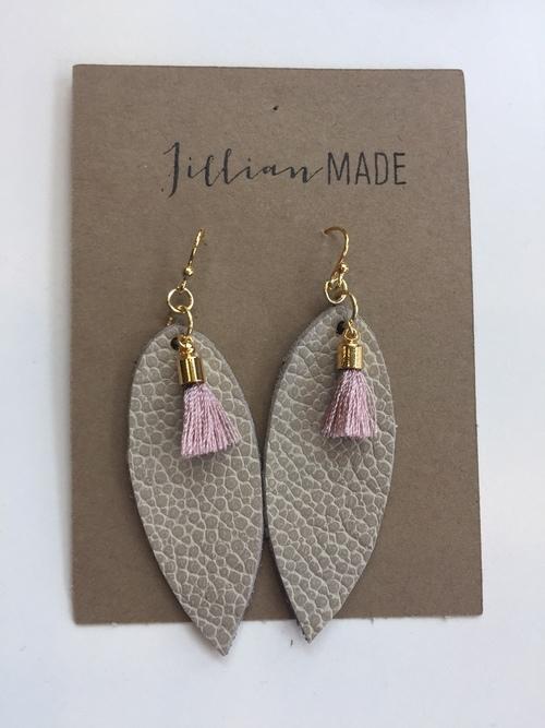 Jillian Made Taupe & Pink Tassle