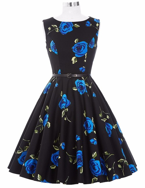 Felicity dress in blue rose