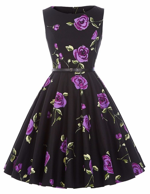 Felicity dress in purple rose