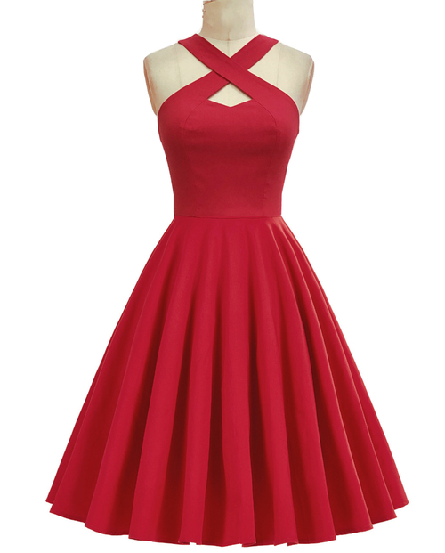 Beauty Mark dress in Red Bengaline