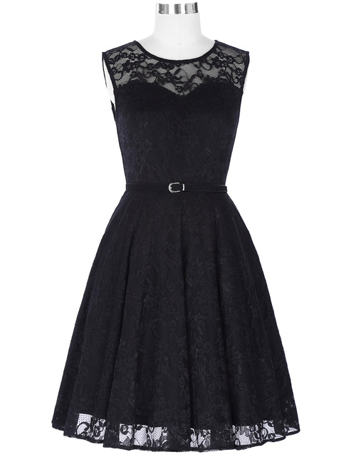 Nancy dress in Black Lace