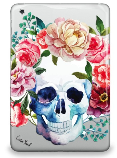 Flower Skull Rubber iPad Mini Cover for 1/2/3