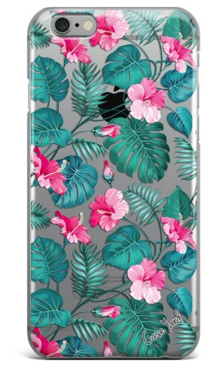 Pink Hibiscus Palm iPhone Case