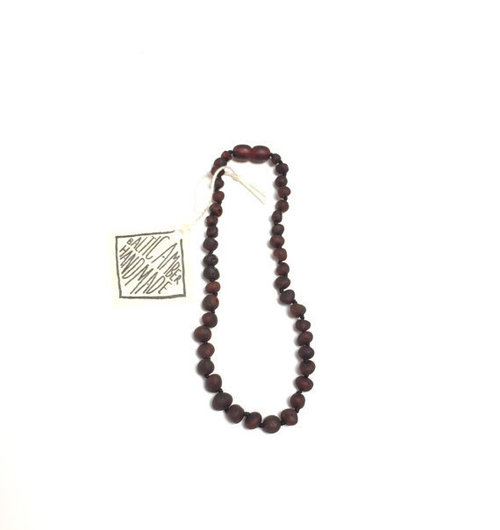 Deep Cognac Amber Teething Necklace