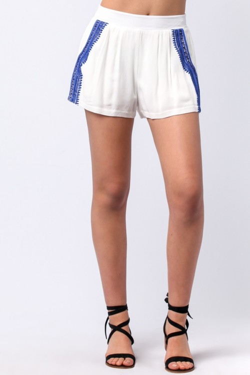 Tribal Embroidered Short