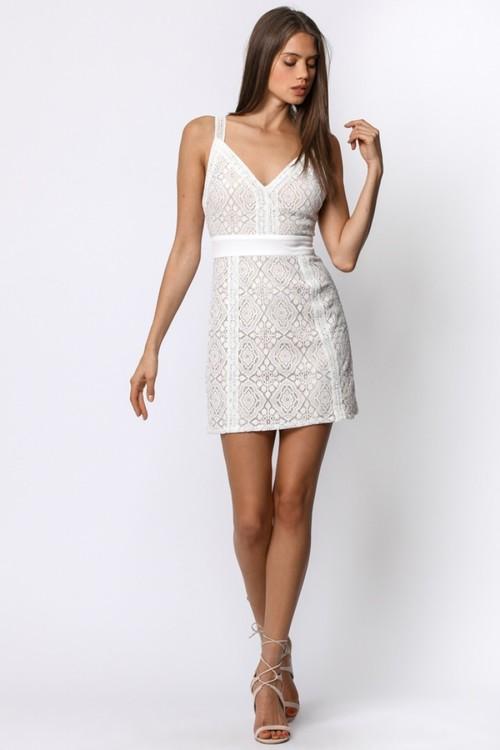 Trim Lace Block Dress