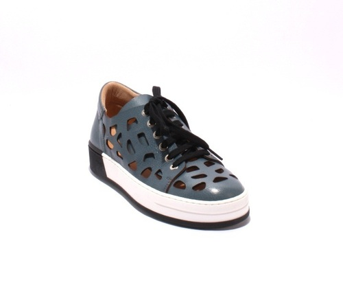 Multi Color Leather Lace-Up Sneakers Shoes