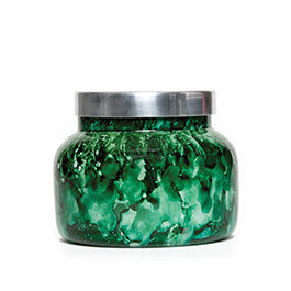 Green Watercolor Cactus Flower Candle- 19oz