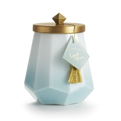 Sugared Blossom Laurel Glass Candle