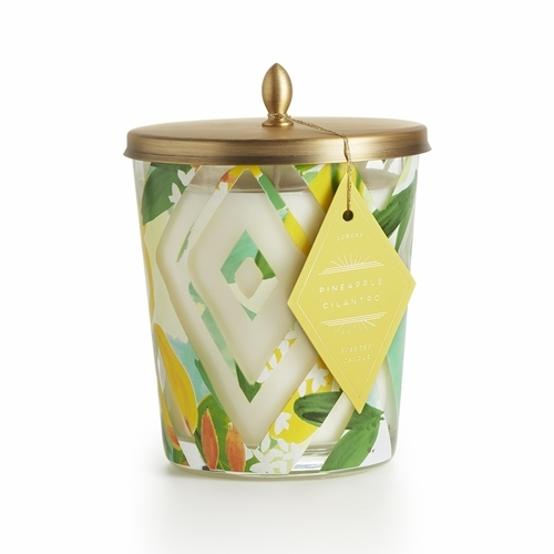 Pineapple Cilantro Cameo Jar Candle