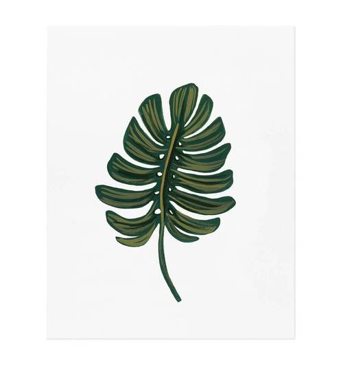 Monstera Leaf Print 8x10