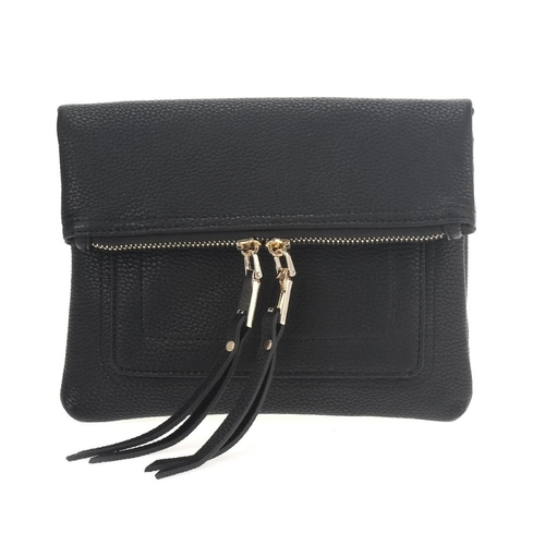 Zip Pouch Fold Over Crossbody
