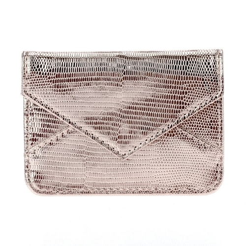 Faux Alligator Snap Credit Card Holder