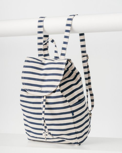 Drawstring Backpack- Stripe Sailor