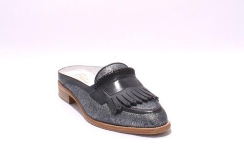 Jeans / Leather Fringe Sandals Shoes Mules