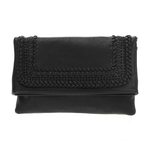 Laser Cut Woven Envelope Clutch w/ Chain
