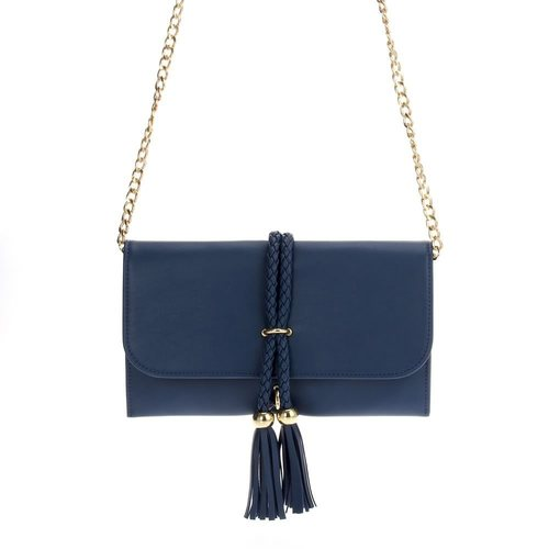 Braided Rope Tassel Clutch Crossbody