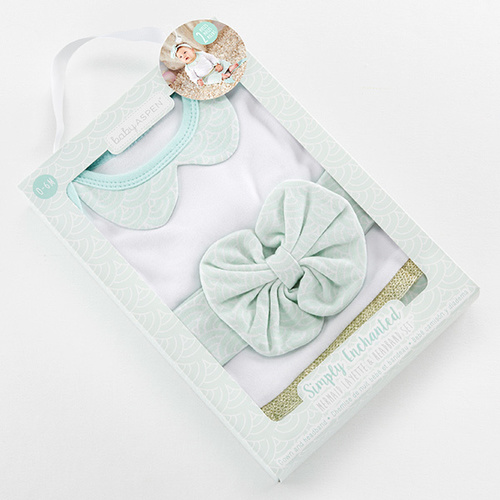 Mermaid Layette & Headband Set