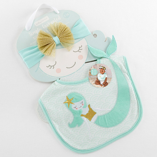 Mermaid Bib & Headband Set