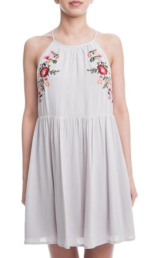 Floral Folk Babydoll Dress