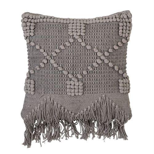 Detailed Woven & Fringe Pillow