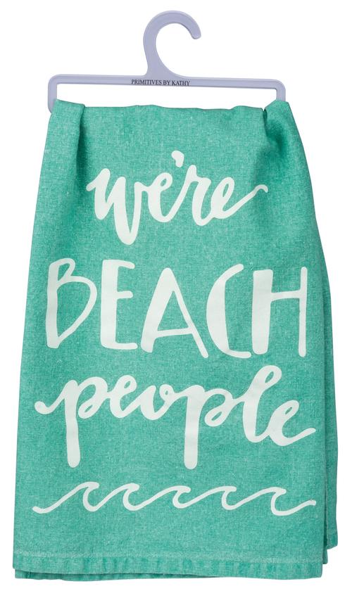 Beach People Tea Towel