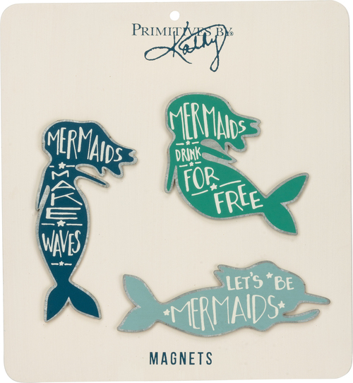 Mermaid Tin Magnets