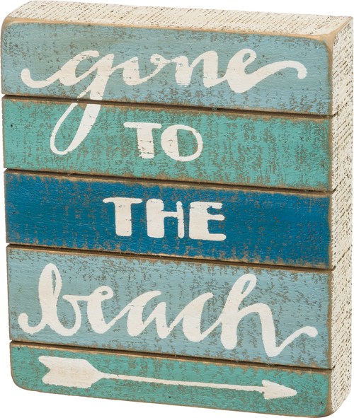 To The Beach Slat Sign