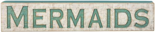 MERMAID Jumbo Wood Sign