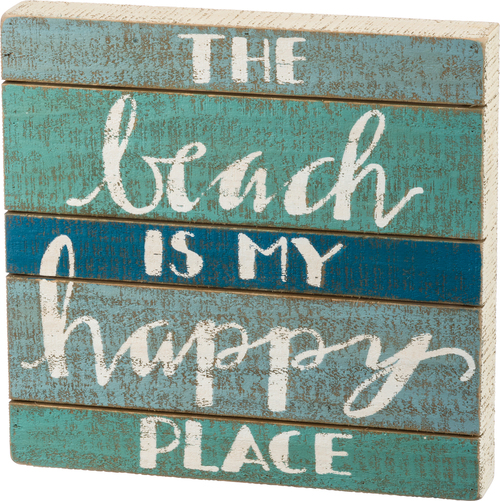 Happy Place Slate Sign Long
