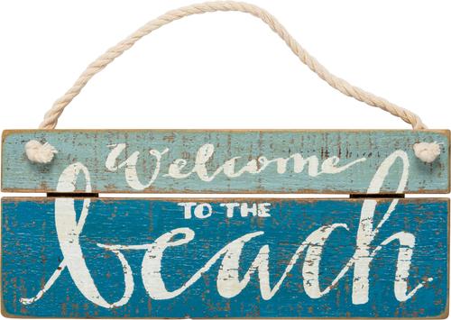 Welcome Beach Slat Sign