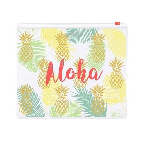 Aloha Clear Zippered Pouch