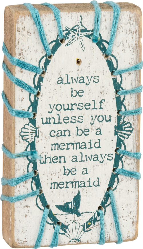 Stitched Mermaid Sign