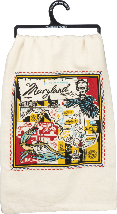 Embroidered Super Maryland Tea Towel