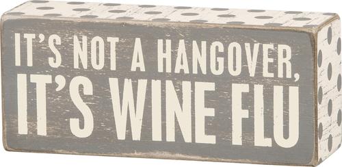 Wine Flu Sign Gray